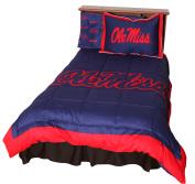 Mississippi Rebels 3 Pc Comforter Set, 1 Comforter, 2 Shams, Full