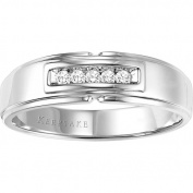 Keepsake Men's Brave Diamond-Accent 10kt White Gold Wedding Band