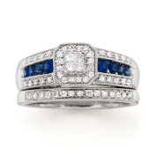 Always & Forever Platinaire 1/3 Carat T.W. Diamond with Blue Sapphire Bridal Set