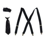 Little Boys Navy Suspender Bow-tie Tie Combo Special Occasion Set