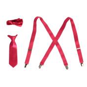 Little Boys Fuchsia Suspender Bow-tie Tie Combo Special Occasion Set