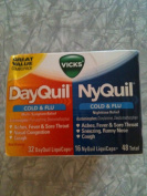 Vicks DayQuil and NyQuil Cold & Flu Relief LiquiCaps, 48 Ct