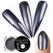 Galaxy Beauty 1.0g Nail Art Mirror Powder Black Shining Manicure Chrome Pigment Ultra Thin Glitter Dust New
