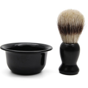 Aptoco Shaving Brush and Shave Mug Set for Lathering Shave Soap and Cream Perfect Christmas Present for Men