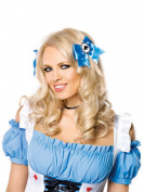 Alice hair bows with poker suit charms