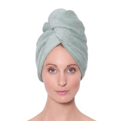 Texere Women's Bamboo Hair Towel (Single Pack) Luxury Gift Ideas for Ladies