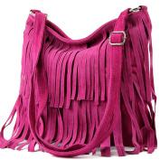Italian handbag shoulder bag shopper Women's bag real suede leather bag T02