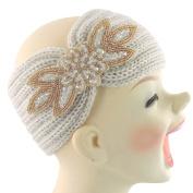 Silver Fever Women Chunky Knitted Headband Hair Band Head Wrap Earmuff