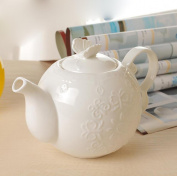 Teapot kettle Ceramic hand carving production Suitable for tea and coffee Enjoy oriental beauty Thick and delicate packaging Safe delivery