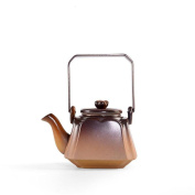 .Teapot kettle Ceramic hand carving production Suitable for tea and coffee Enjoy oriental beauty Thick and delicate packaging Safe delivery 2 cup