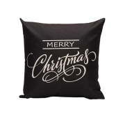Huhua Christmas Letter Sofa Bed Home Decoration Festival Pillow Case Cushion Cover