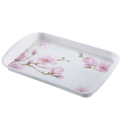 European-style Double-decker Tray Household Kitchen Rectangular Water Cup Tray Tea Tray Plastic Fruit Plate