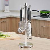 WENZHE Kitchen Storage Rack Spice Cooker Shelf Pot Shovel Spoon Pendant Rotate Multifunction Stainless Steel, 43 * 15cm