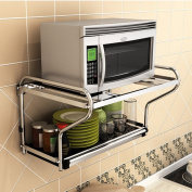 WENZHE Kitchen Storage Rack Spice Cooker Shelf Wall Mounted Drain Oven stainless Steel Multifunction 2 Layer, 59.3 * 35.5 * 41cm