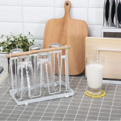 WENZHE Kitchen Storage Rack Spice Cooker Shelf Cup Rack Drain Portable Wooden, 23 * 19 * 13cm