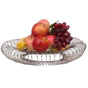 WENZHE Fruit plate Rack Dish Bowl Storage Basket Creative Multifunction Iron, 40 * 8cm fruit holder