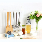 Kitchen Shelf Racks Multi-Purpose Hanger Iron Floor-mounted 6 Hooks Shovels Cutlery Spices