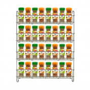 Chrome Spice Herb Jar Rack Holder Kitchen Cupboard Door Storage Shelf 4 Tier