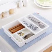 Kitchen Drawer Organiser, outgeek Removable Plastic Multiple Silverware Tray Utensil Kitchen Tableware Tray