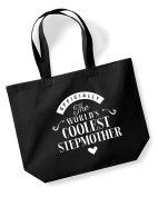 Stepmother Birthday Gift or Christmas Gift Bag, Tote, Shopping Bag, Birthday Gift, Present, Gifts For Women, Worlds Coolest Stepmother