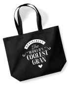 Gran Birthday Gift or Christmas Gift Bag, Tote, Shopping Bag, Birthday Gift, Present, Gifts For Women, Worlds Coolest Gran