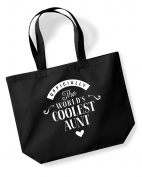 Aunt Birthday Gift or Christmas Gift Bag, Tote, Shopping Bag, Birthday Gift, Present, Gifts For Women, Worlds Coolest Aunt ,