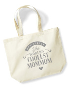 Mommom Birthday Gift or Christmas Gift Bag, Tote, Shopping Bag, Birthday Gift, Present, Gifts For Women, Worlds Coolest Mommom