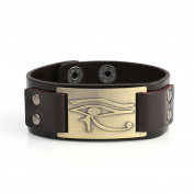 My Shape Eye of Horus Ra Thoth Udjat Leather Cuff Bracelet Egyptian Amulet Pagan Jewellery