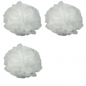 Luxury Luffa Loofah Bath Sponge On A Rope, Colour May Vary (Pack of 3) + 3 Count Eyebrow Trimmer