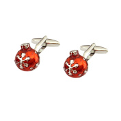 Beautifully Detailed Red Christmas Bauble Cufflinks X2AJ665