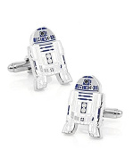 Movie Inspired SW R2-D2 Robot Metal Cufflinks in Gift Box - Cosplay Fans
