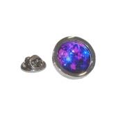 Interstellar Nebula Round Lapel Pin Badge Gifts For Him
