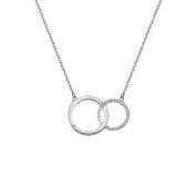 Hot Diamonds Bliss Interlocking Circle Necklace of Length 45cm