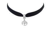 Ladies Silver Charm Choker Choose Your Charms Elegant Victorian Vintage Necklace Velvet Choker