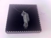 Mini Cooper 3D PENDENT ON A BLACK CORD Necklace Handmade 41CM & Adjustable ref310
