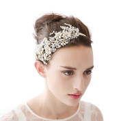 Cereoth Flower Wreath Floral Crown Garland Headband for Wedding Festivals Adjustable with White Hair Ribbon