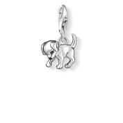 Thomas Sabo Women-Charm Pendant Dog Charm Club 925 Sterling silver black 0885-007-12