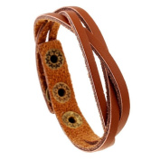 Vovotrade® New Leather Wrap Braided Wristband Cuff Punk Men Women Bracelet Bangle