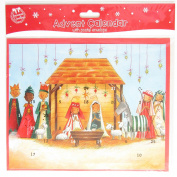 Traditional Christmas Advent Calendar 24 Windows to Open - Nativity