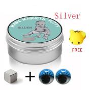 Cebbay Magnetic Rubber mud PlayDough Plasticine Developmental Decompression Toys + Magnet + 2PCS Plastic eyes