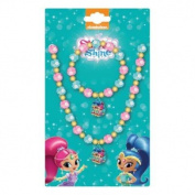Shimmer & Shine Beaded Basic Jewellery Set Necklace And Bracelet Dress Up Accessories For Girls