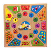Wooden Puzzle Functional,Clock Puzzle Baby Learning Toys 2017 New Buyby