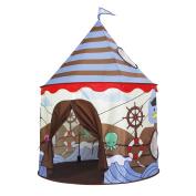 Homfu Castle Play Tent For Kids Playhouse For Children Birthday Gift for Boys Viking Pattern