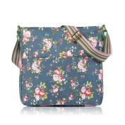 Lovely Vintage Flowers Canvas Crossbody Messenger Bag