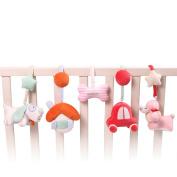 SHILOH Baby Crib Stroller Carseat Decoration 5 PCS Plush Nursery Mobile, Lucky Dog