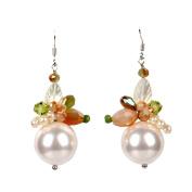 S925 Silver Woman Exaggerated Pearl Earrings Handmade Crystal Tassel Earrings