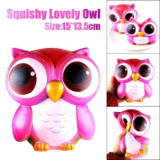 Whale Soft Toy Slow Rising, 15cm Lovely Pink Owl Cream Scented Squishy Slow Rising Squeeze Toys Collection