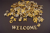 250+ Wooden Small (2cm) Adhesive Letter & Digits Craft Alphabet Decoration