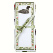 Loon Flour Sack Towel and Magnetic Note Pad Set