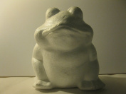 Glorex 3803 800 6 Styrofoam Frog White 30 x 2.5 cm